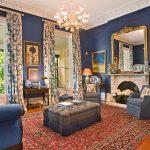 Комната в темно-синих тонах