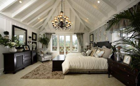 Комната для сна в английском стиле