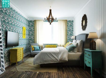 Смешение стилей в спальне