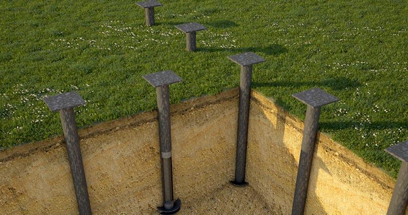 Особенности винтовых свай для строительства фундамента